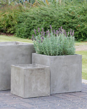 Large Lightweight Concrete Planters and Planter Boxes