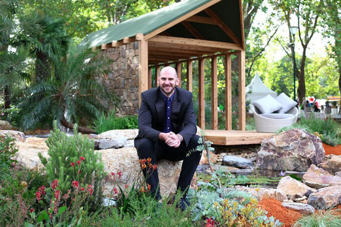 Australian landscape designers brent reid on loving his craft and brent reid at nt garden melbourne international flower and garden show 2015 workwithnaturefo