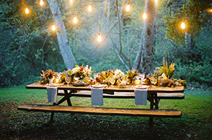 Candlelight Dining with Planters